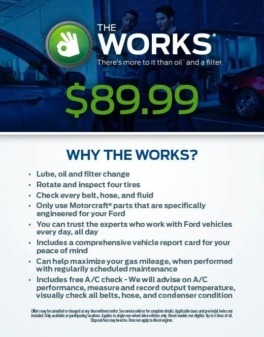 Ford The Works >> Service Specials Test Freedom Ford Sales